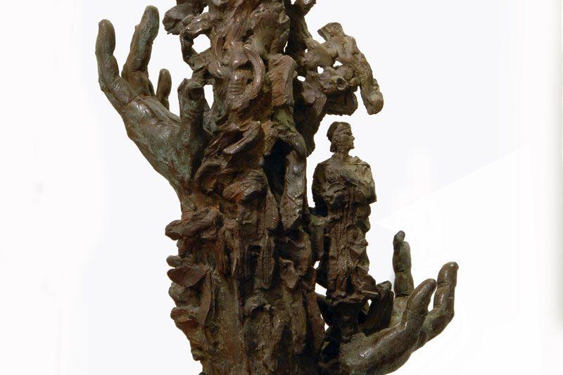 Dante in the Flames (Bronze Sculpture by Greg Wyatt )