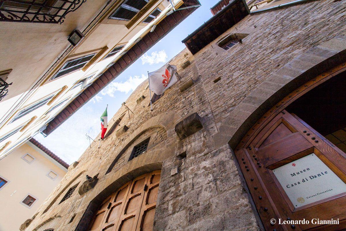 L'ingresso del Museo Casa di Dante