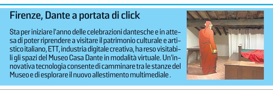 """""""Dante a portata di click"""" - La Stampa"""